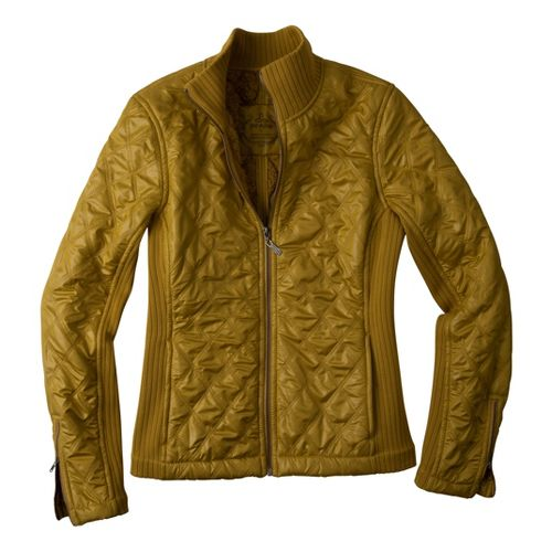 Womens Prana Diva Warm-Up Unhooded Jackets - Agave XL
