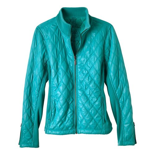 Womens Prana Diva Warm-Up Unhooded Jackets - Dragonfly L