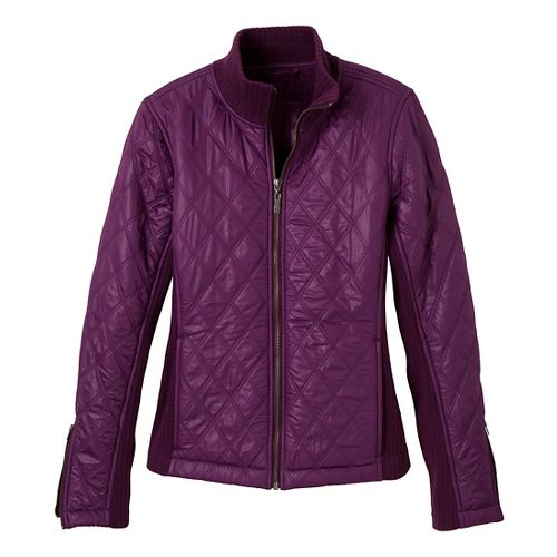 Womens Prana Diva Warm-Up Unhooded Jackets - Grapevine XS