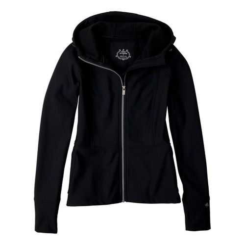 Womens Prana Alpine Warm-Up Unhooded Jackets - Black XS