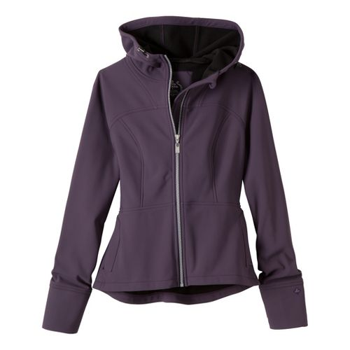 Womens Prana Alpine Warm-Up Unhooded Jackets - Dark Eggplant S