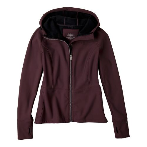 Womens Prana Alpine Warm-Up Unhooded Jackets - Thistle XS