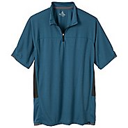 Mens Prana Vertigo Mock Neck Zip Short Sleeve Technical Tops