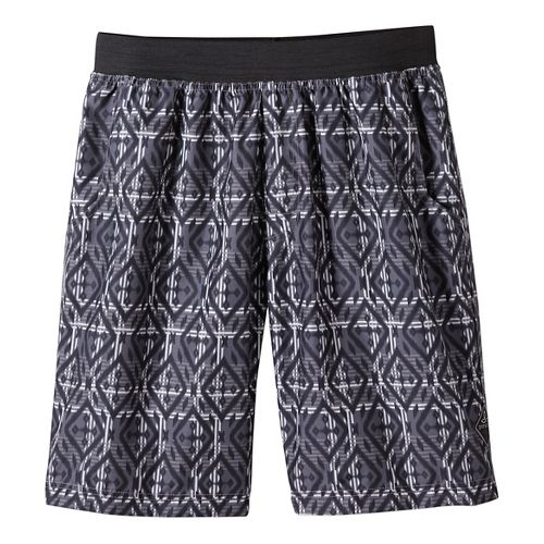 Mens prAna Mojo Unlined Shorts - Mixology Gravel L