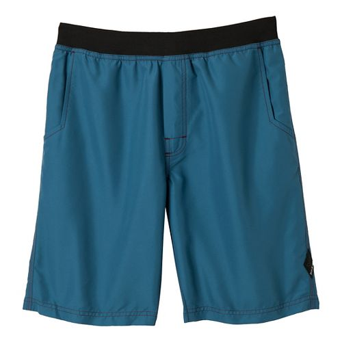 Mens Prana Mojo Unlined Shorts - Blue Ash S