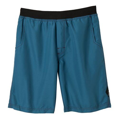 Mens Prana Mojo Unlined Shorts - Blue Ash XXL