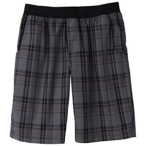Mens Prana Mojo Unlined Shorts - Charcoal Plaid L