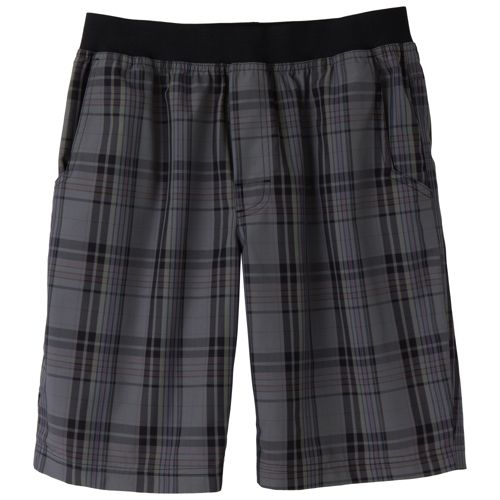 Mens Prana Mojo Unlined Shorts - Charcoal Plaid S