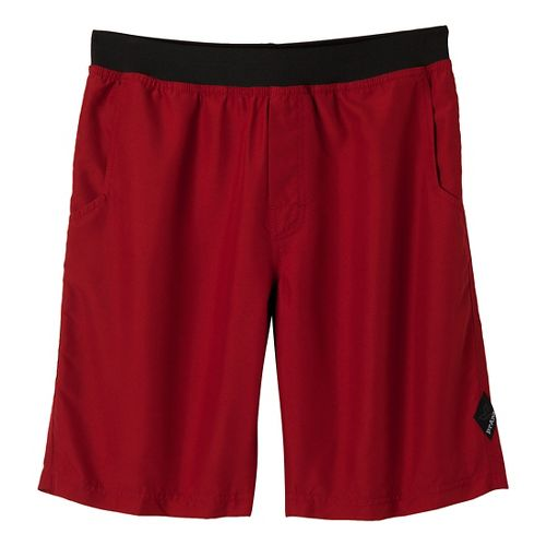 Mens Prana Mojo Unlined Shorts - Crimson XS