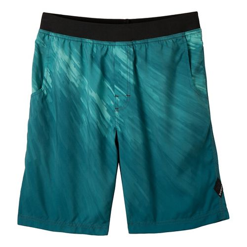 Mens Prana Mojo Unlined Shorts - Deep Teal L