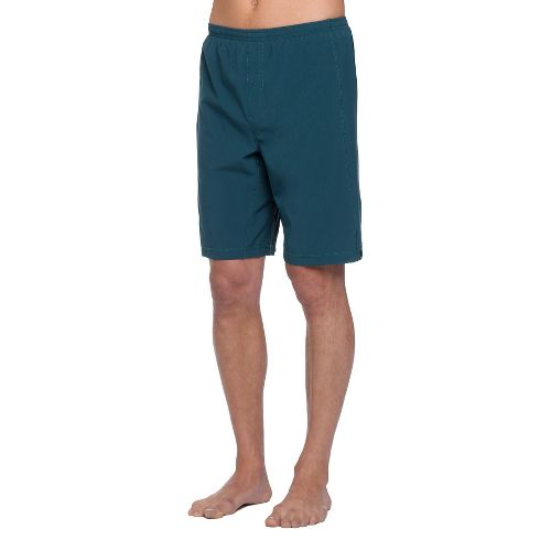 Mens Prana Flex Unlined Shorts - Deep Teal XS
