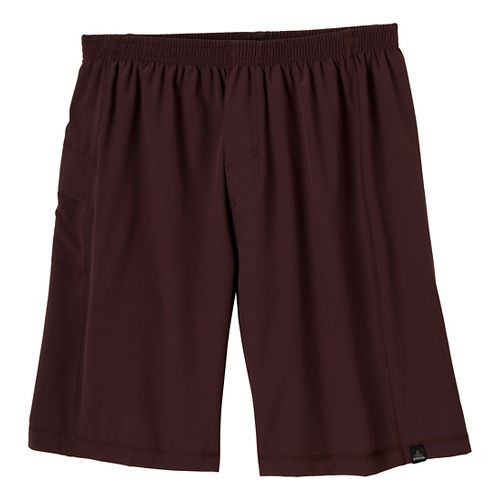 Mens Prana Flex Unlined Shorts - Rich Cocoa S