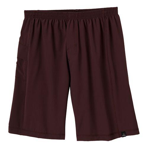 Mens Prana Flex Unlined Shorts - Rich Cocoa XS