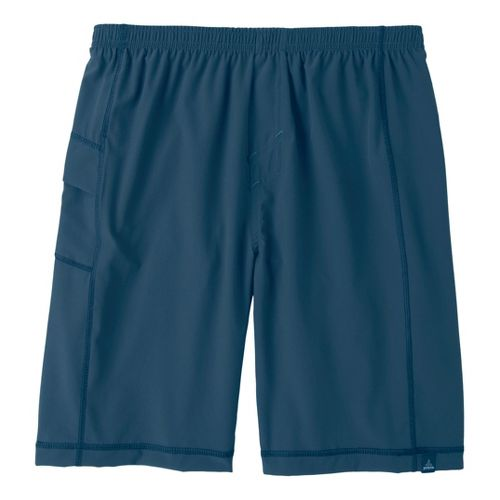 Mens Prana Flex Unlined Shorts - Storm Blue L