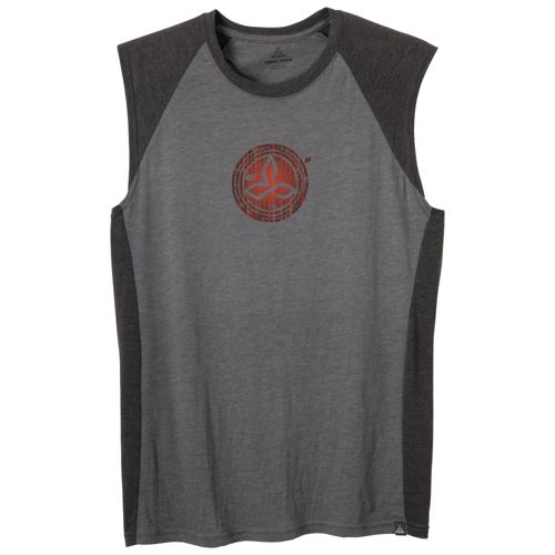 Mens Prana Bamboo Quest Sleeveless Technical Tops - Charcoal XL