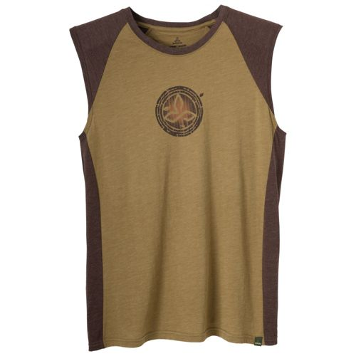 Mens Prana Bamboo Quest Sleeveless Technical Tops - Moss XXL