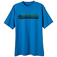 Mens Prana Retro Tee Short Sleeve Technical Tops