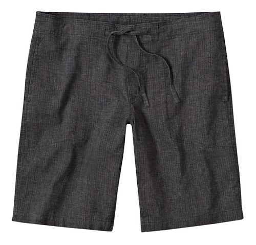Mens prAna Sutra Unlined Shorts - Black Herringbone L