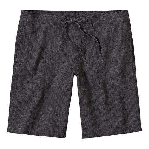 Mens prAna Sutra Unlined Shorts - Black Herringbone L
