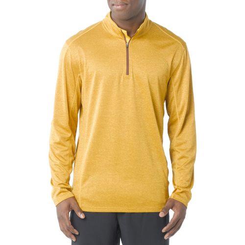 Mens Prana Talon Mock Neck Long Sleeve 1/2 Zip Technical Tops - Cumin XL