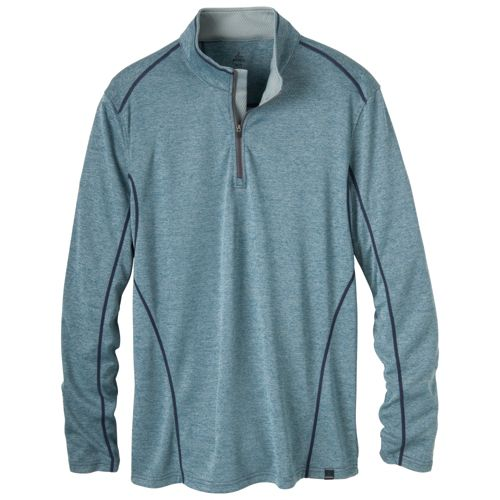 Mens Prana Talon Mock Neck Long Sleeve 1/2 Zip Technical Tops - Corsica XXL