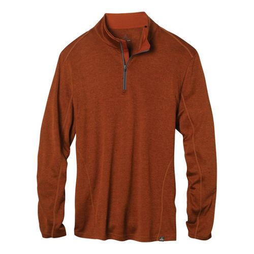 Mens Prana Talon Mock Neck Long Sleeve 1/2 Zip Technical Tops - Picante XXL