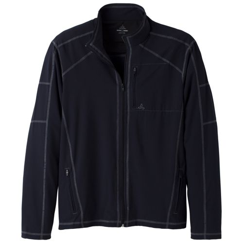 Mens Prana Flex Warm-Up Unhooded Jackets - Black S