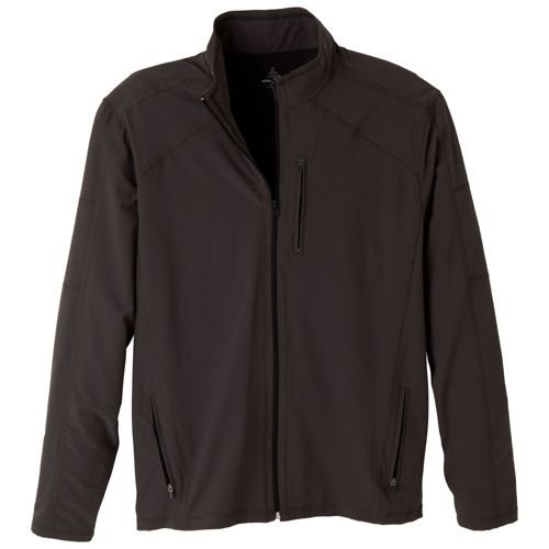 Mens Prana Flex Warm-Up Unhooded Jackets - Charcoal S