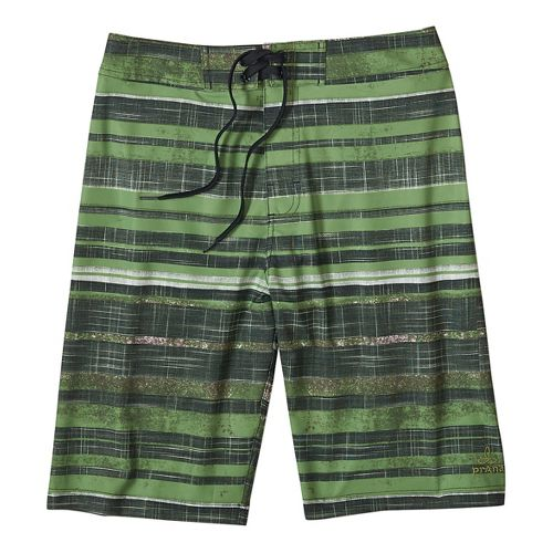 Mens prAna Sediment Short Unlined Swim - Sour Apple 33