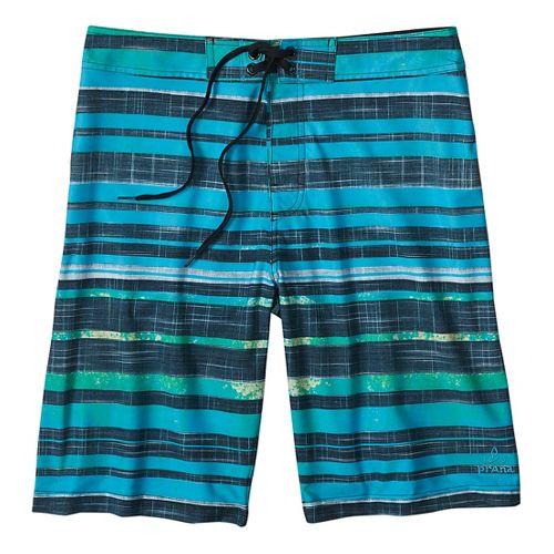 Mens prAna Sediment Short Unlined Swim - Baja Blue 30