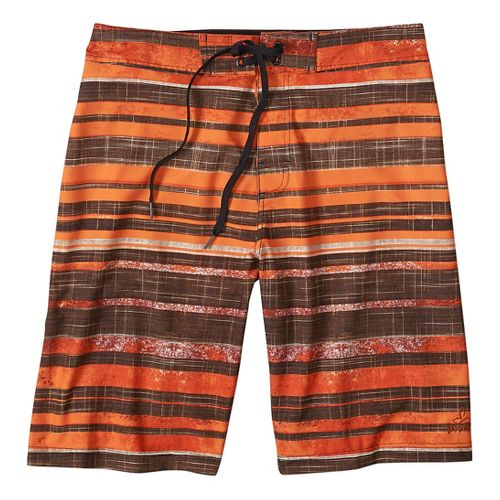 Mens prAna Sediment Short Unlined Swim - Cayenne 33