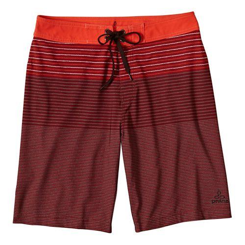 Mens Prana Sediment Unlined Shorts - Electric Orange 32