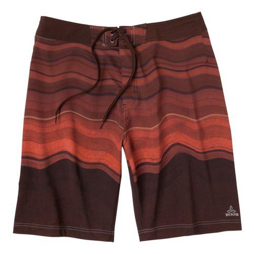 Mens Prana Sediment Unlined Shorts - Brown 33