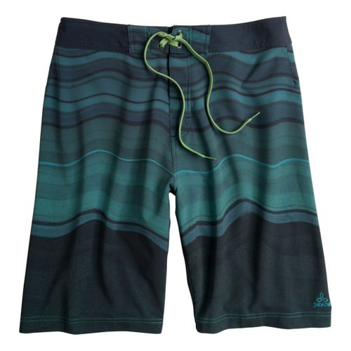Mens Prana Sediment Unlined Shorts - Teal 34