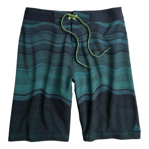 Mens Prana Sediment Unlined Shorts - Teal 38