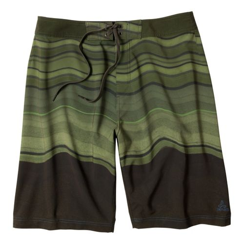Mens Prana Sediment Unlined Shorts - Tortoise 36