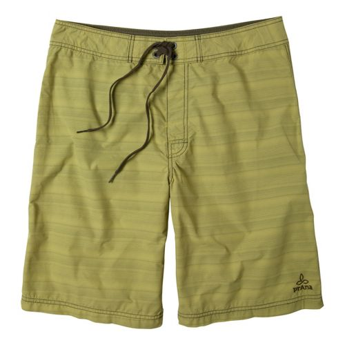 Mens Prana El Porto Unlined Shorts - Green 36