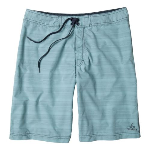 Mens Prana El Porto Unlined Shorts - Light Blue 28