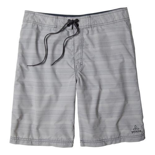 Mens Prana El Porto Unlined Shorts - Light Grey 34