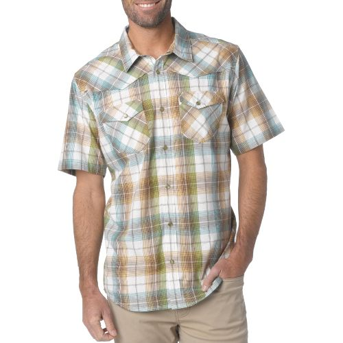 Mens Prana Hartman Short Sleeve Non-Technical Tops - Spinach XL