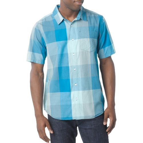 Mens Prana Brighton Short Sleeve Non-Technical Tops - Baja Blue M