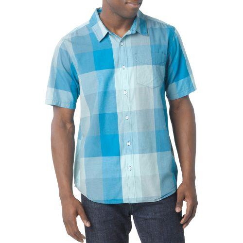 Mens Prana Brighton Short Sleeve Non-Technical Tops - Baja Blue S