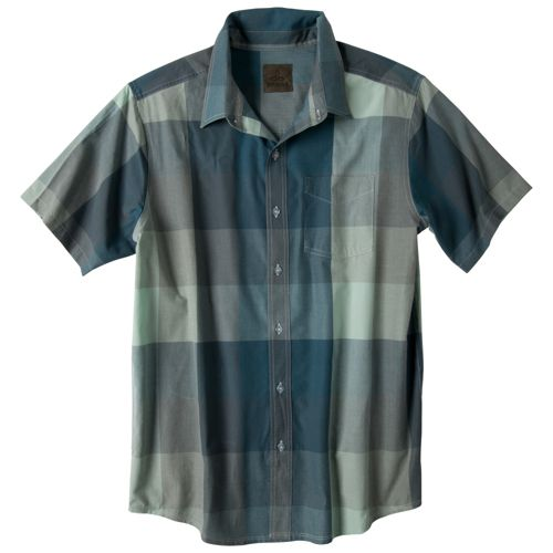 Mens Prana Brighton Short Sleeve Non-Technical Tops - Blue Jean S