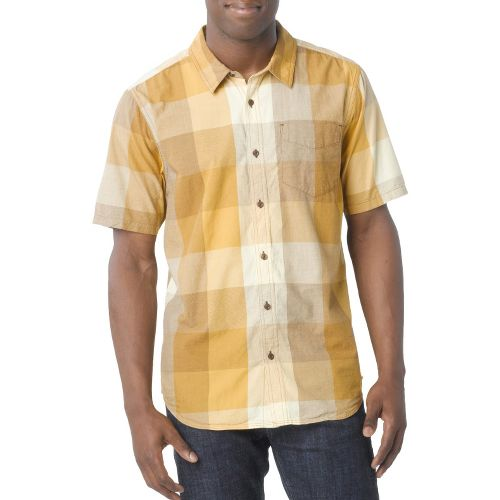 Mens Prana Brighton Short Sleeve Non-Technical Tops - Buttermilk L