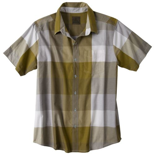 Mens Prana Brighton Short Sleeve Non-Technical Tops - Grass S