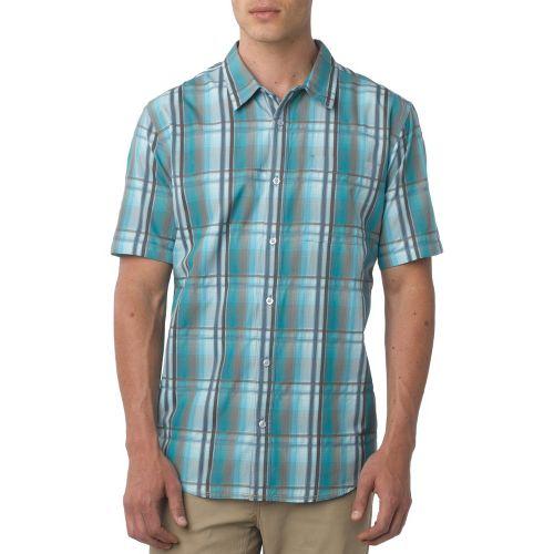 Mens Prana Duke Short Sleeve Non-Technical Tops - Ocean S