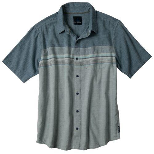 Mens Prana Camino Short Sleeve Technical Tops - Blue Jean M