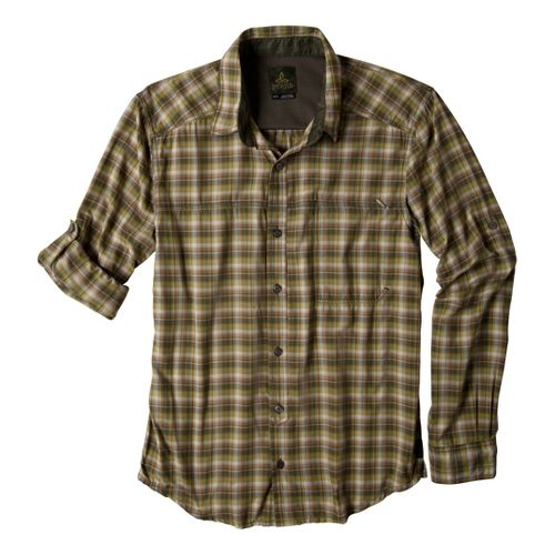 Mens Prana Dickson Short Sleeve Technical Tops - Cargo Green L