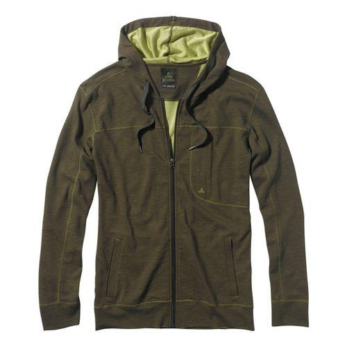 Mens Prana Frontier Warm-Up Hooded Jackets - Cargo Green S