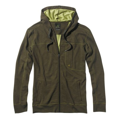 Mens Prana Frontier Warm-Up Hooded Jackets - Cargo Green XXL